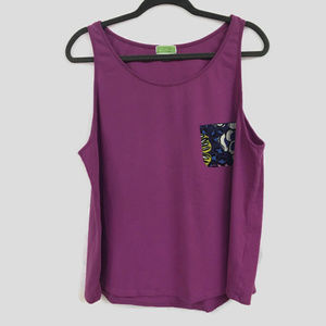 Vera Bradley African Violet Purple Pajama Tank Top